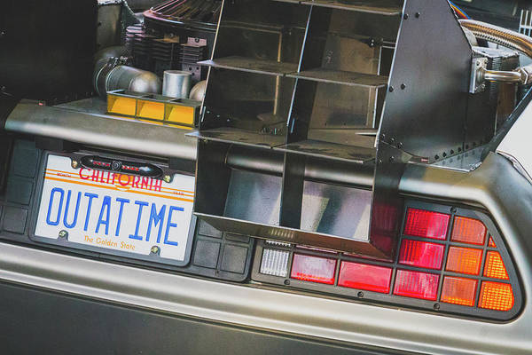 Photograph - Bttf Delorean Replica by SR Green
