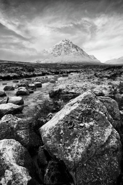 Moor Photograph - Buachaille Etive Mor In Winter by Paul Whiting