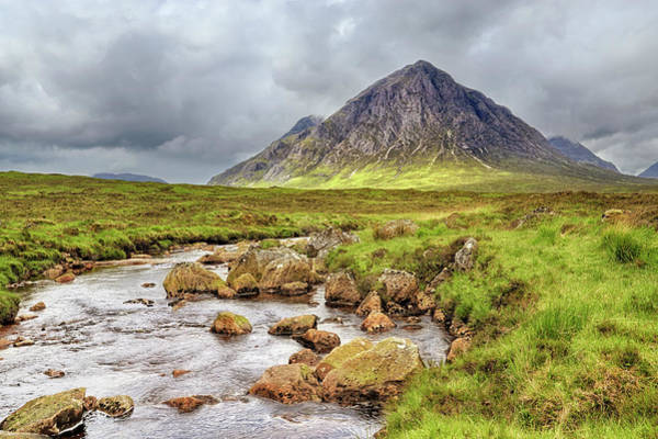 Photograph - Moody Buachaille Etive Mor - Scotland - Stormy by Jason Politte