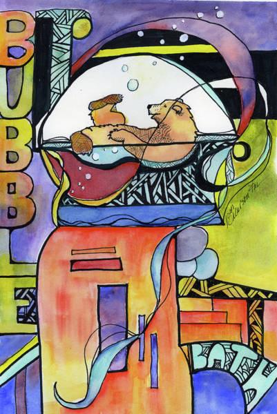 Painting - Bubble Bath Bear by Joan Chlarson