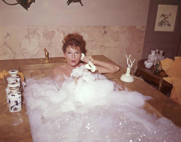 Bubble Bath Photograph - Bubble Bath by Fox Photos