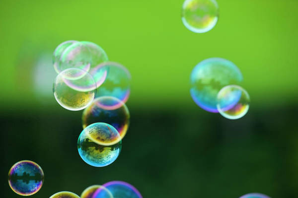 Bubble Photograph - Bubbles Floating In Air, Salzburg by Bettina Salomon