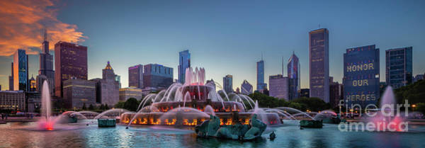Wall Art - Photograph - Buckingham Fountain - Panorama by Inge Johnsson