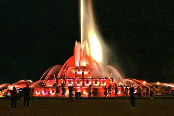 Photograph - Buckingham Memorial Fountain - Chicago # 3 by Allen Beatty