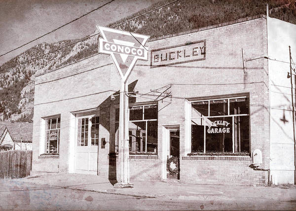Wall Art - Photograph - Buckley Garage - Georgetown Co by Stephen Stookey