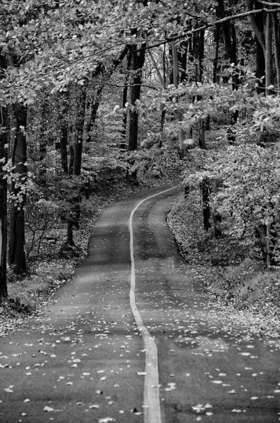 Wall Art - Photograph - Bucks County Road In Black And White by Bill Cannon