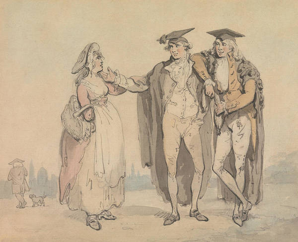 Buck Drawing - Bucks Of The First Head by Thomas Rowlandson