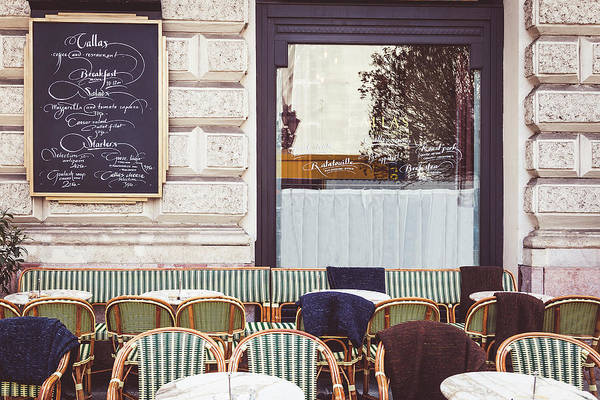 Wicker Chair Photograph - Budapest Cafe by Andrew Soundarajan