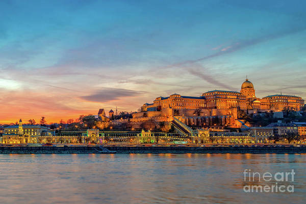 Wall Art - Photograph - Budapest Castle At Sunset by Louise Poggianti