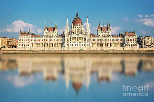 Wall Art - Photograph - Budapest Parliament, Hungary by Delphimages Photo Creations