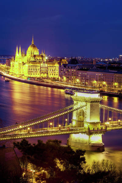 Wall Art - Photograph - Budapest Twilight View by Andrew Soundarajan