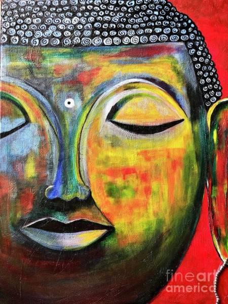 Wall Art - Painting - Buddha-a Peaceful Sage  by Anuradha Kumari