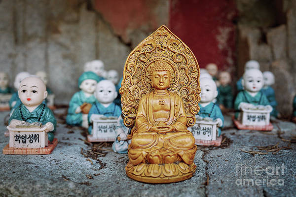 Wall Art - Photograph - Buddha And His Disciples by Dean Harte