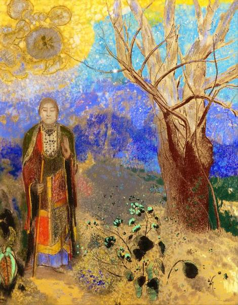 Wall Art - Painting - Buddha - Digital Remastered Edition by Odilon Redon