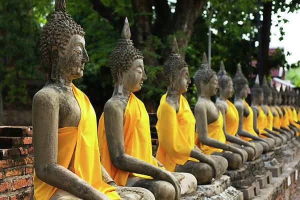 Art And Craft Photograph - Buddha Image, Thailand by Tomodaji