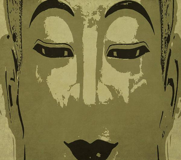 Gautama Digital Art - Buddha In Gold And Charcoal  by Kandy Hurley