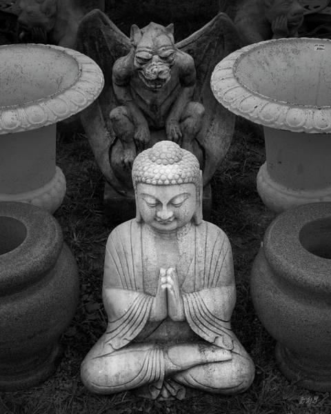 Photograph - Buddha Iv Bw by David Gordon