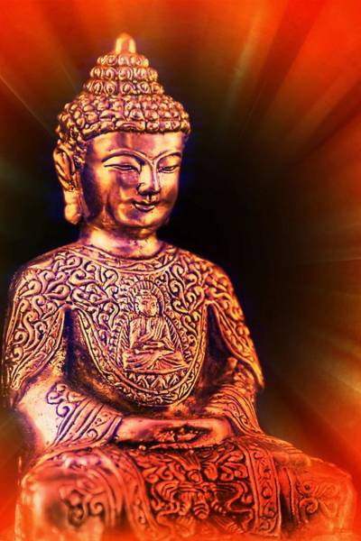 Photograph - Buddha Statue For Good Luck And Fortune by Tatiana Travelways