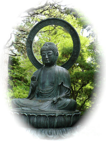 Wall Art - Photograph - Buddha Statue In Green by Carol Groenen