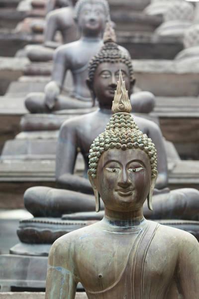 Statue Photograph - Buddha Statues, Colombo, Sri Lanka by Donald Michael Chambers