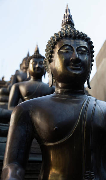Statue Photograph - Buddha Statues In Gangaramaya Temple by @ Didier Marti