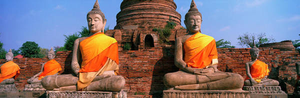 Virtue Photograph - Buddha Statues Near Bangkok Thailand by Panoramic Images