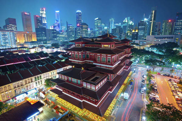 Land Mark Photograph - Buddha Tooth Relic Temple by Sammy Mark Galarpe