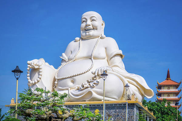 Photograph - Buddha Vinh Trang Temple by Gary Gillette