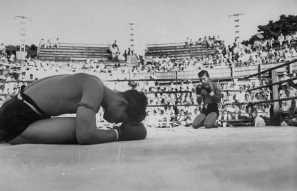 Beginnings Photograph - Buddhist Prayers At Beginning Of The Pre by Jack Birns