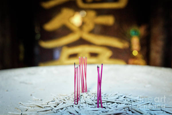 Wall Art - Photograph - Buddhist Temple Incense by Dean Harte