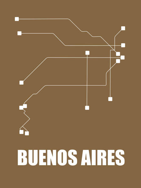 Wall Art - Digital Art - Buenos Aires Subway Map 2 by Naxart Studio
