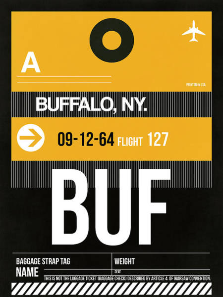 Wall Art - Digital Art - Buf Buffalo Luggage Tag II by Naxart Studio