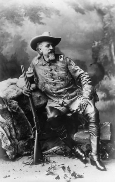 Rifle Photograph - Buffalo Bill by Mpi