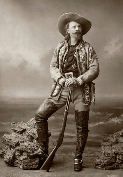 Wall Art - Photograph - Buffalo Bill With Rifle by Daniel Hagerman