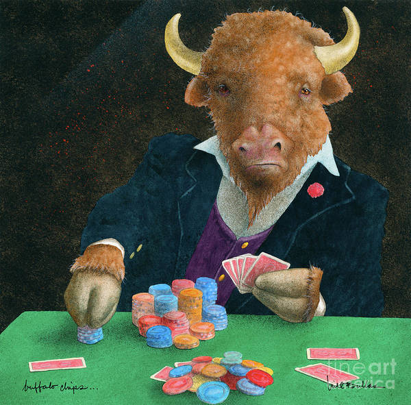 Wall Art - Painting - Buffalo Chips... by Will Bullas