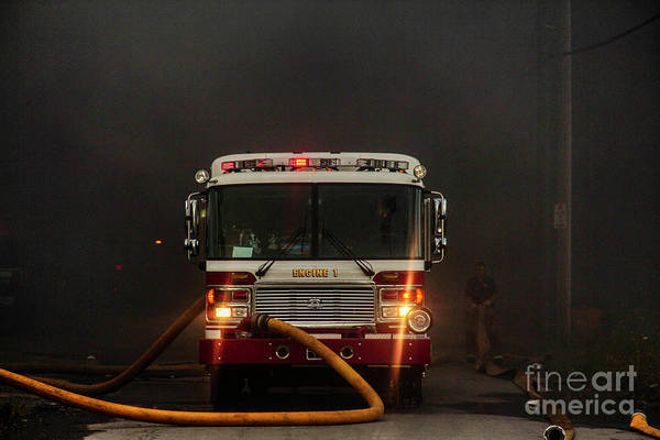 Photograph - Buffalo Fire Dept Engine 1 by Jim Lepard