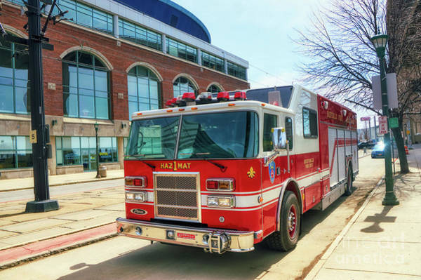 Photograph - Buffalo Fire Dept Haz1mat by Jim Lepard