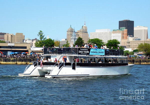 Photograph - Buffalo River History Tour Harbor Queen Boat by Rose Santuci-Sofranko