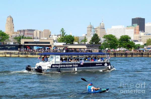 Photograph - Buffalo River History Tour River Queen Boat by Rose Santuci-Sofranko
