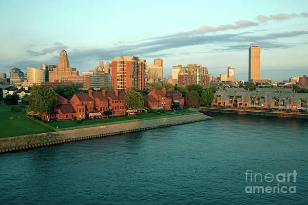 Wall Art - Photograph - Buffalo Skyline On The Erie Basin by Bill Cobb