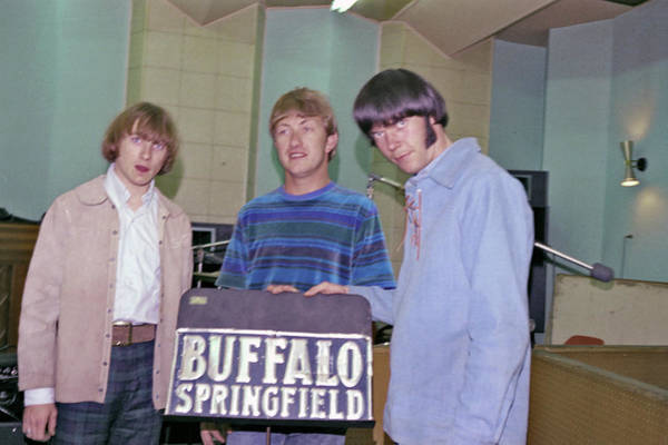 Neil Young Photograph - Buffalo Springfield At Gold Star by Michael Ochs Archives