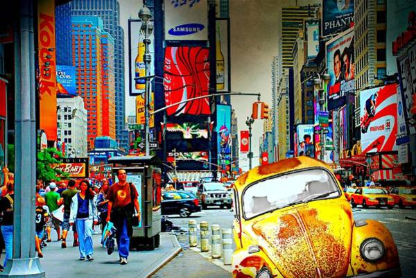 Wall Art - Photograph - A Bug In Times Square by Diana Angstadt