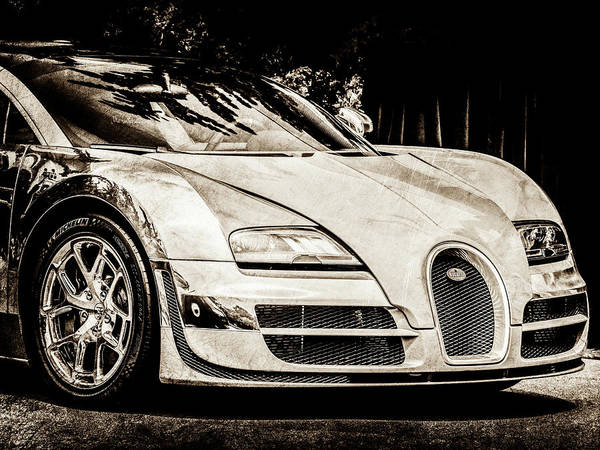 Photograph - Bugatti Legend - Veyron Special Edition -0844scl2 by Jill Reger