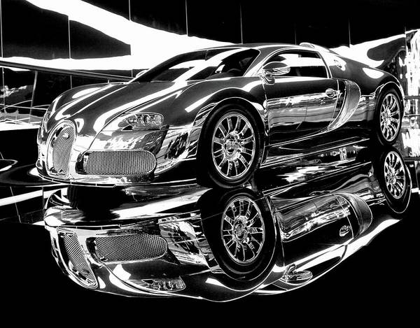 Wall Art - Painting - Bugatti Veyron by ArtMarketJapan