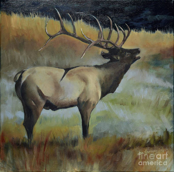 Painting - Bugling Elk by Jan Dappen