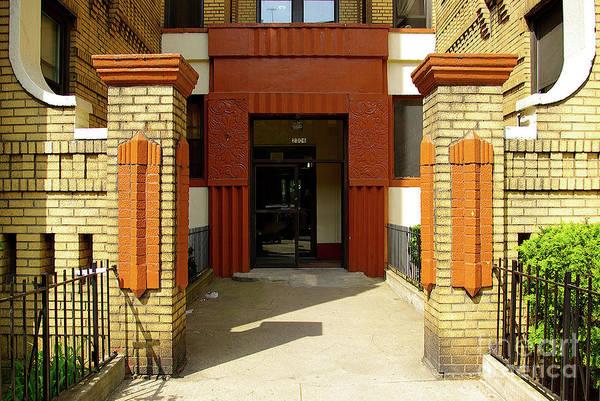 Building Wall Art - Photograph - Building Entrance In Brooklyn, New York by Zal Latzkovich