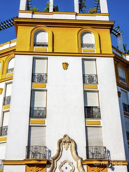 Photograph - Building Lines In Seville by John Rizzuto