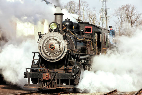 Photograph - Building Steam At The New Hope And Ivyland Railroad by John Rizzuto