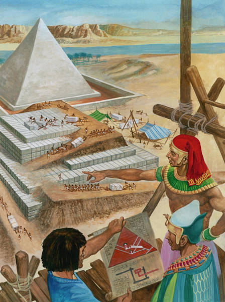 Wall Art - Painting - Building The Pyramids by Peter Jackson