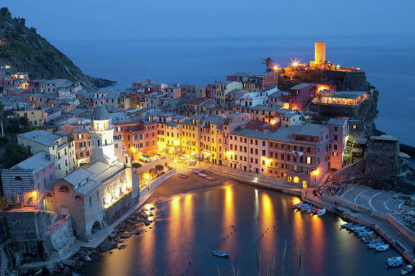 Vernazza Photograph - Buildings Along The Waterfront by David Duchemin / Design Pics